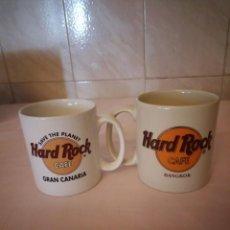 Vintage: LOTE DE 2 TAZAS DE DESAYUNO DE HARD ROCK CAFÉ BANGKOK Y GRAN CANARIA. PORCELANA . Lote 163079670