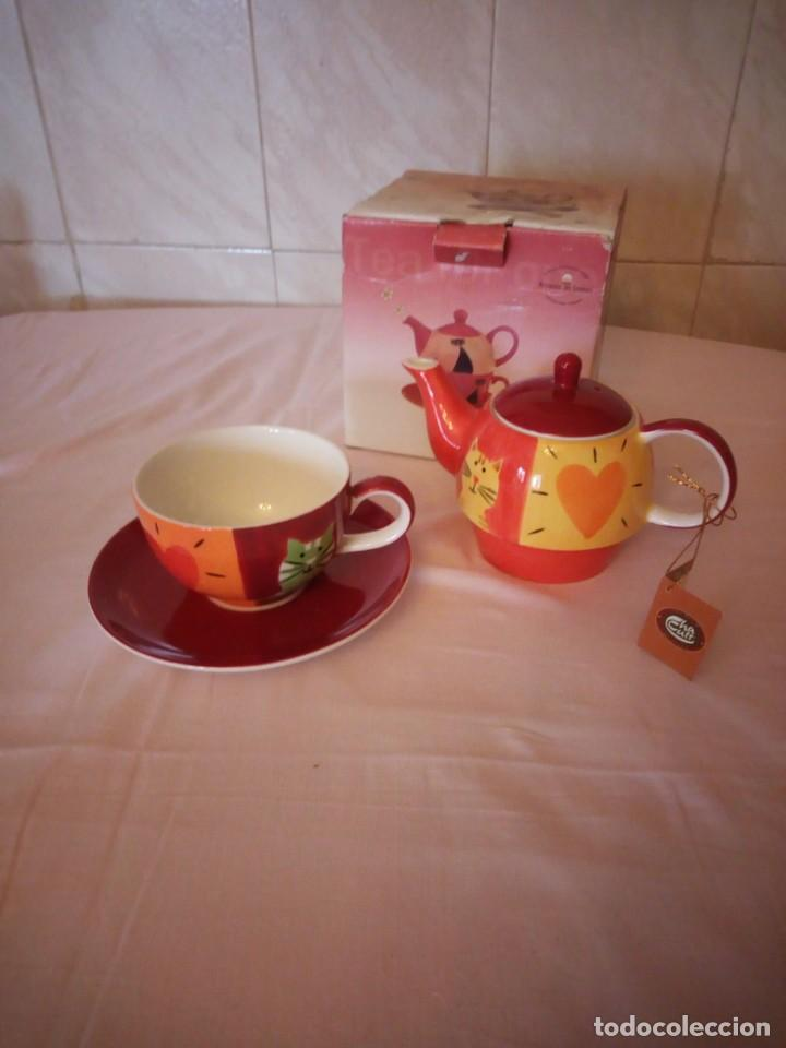 Vintage: Bonito juego de té para uno tetera taza y plato.cha cutt - Foto 2 - 163307930