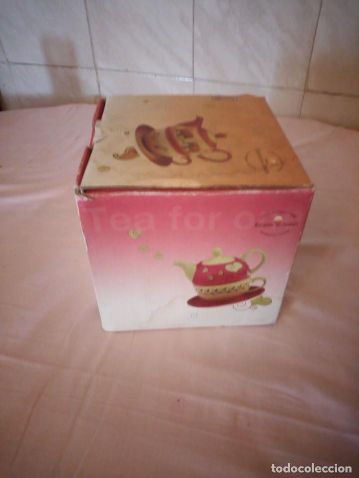 Vintage: Bonito juego de té para uno tetera taza y plato.cha cutt - Foto 7 - 163307930