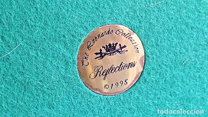 Vintage: THE LEONARDO COLLECTION 1995 REFLECTION - 28X18.CM CERAMICA PIEZA EXCLISIVA MUY VALIOSA - Foto 11 - 173134267