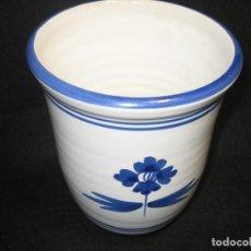 Vintage: FLORERO DE CERAMICA VIDRIADA. Lote 164622858