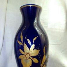 Vintage - Jarron de cerámica porcelana azul cobalto y dorado 30 centímetros - 164851160
