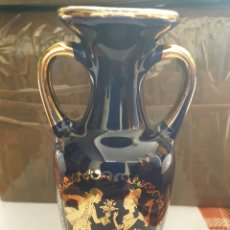 Vintage - Jarron de porcelana azul cobalto antiguo 19 por 8 cm - 164912750