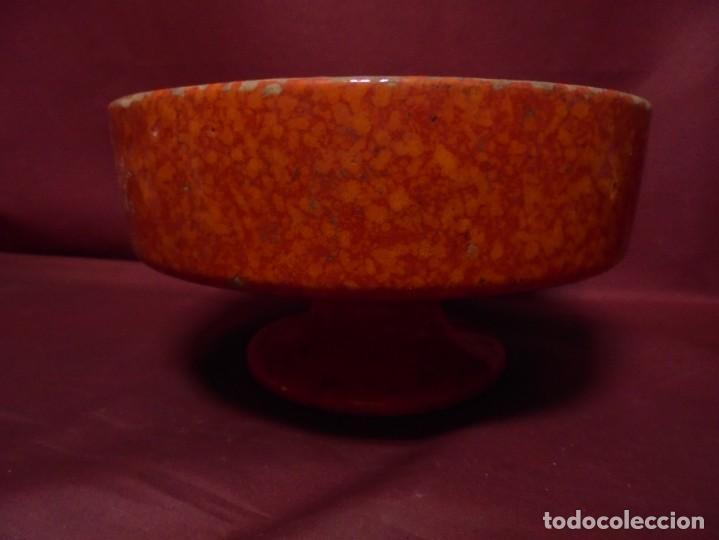 Vintage: magnifico frutero vintage ceramica cases, vidriada tonos rojos y anaranjados de los 60 - Foto 2 - 165266162