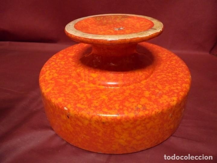 Vintage: magnifico frutero vintage ceramica cases, vidriada tonos rojos y anaranjados de los 60 - Foto 3 - 165266162