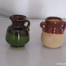 Vintage: DOS MINIATURAS CERÁMICA. 5CM.. Lote 165731810