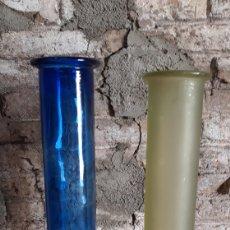 Vintage: LOTE 2 JARRONES ALTOS EN CRISTAL DE LA MEDITERRANEA. Lote 165992980
