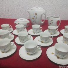 Vintage: JUEGO DE CAFÉ DE 12 SERVICIOS, CON CAFETERA, LECHERA Y AZUCARERO. Lote 166235689