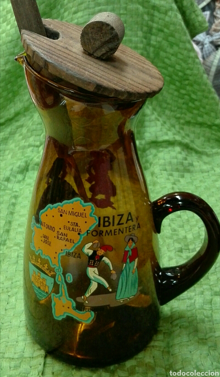 Vintage: Jarra vintage ámbar de Ibiza - Foto 4 - 166464993