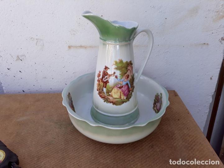 JARRA Y PALANGANA PORCELANA (Vintage - Decoración - Porcelanas y Cerámicas)