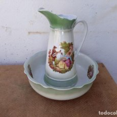 Vintage: JARRA Y PALANGANA PORCELANA. Lote 166507198