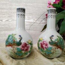 Vintage: IMPRESIONANTES FLOREROS CHINOS.. Lote 166710014
