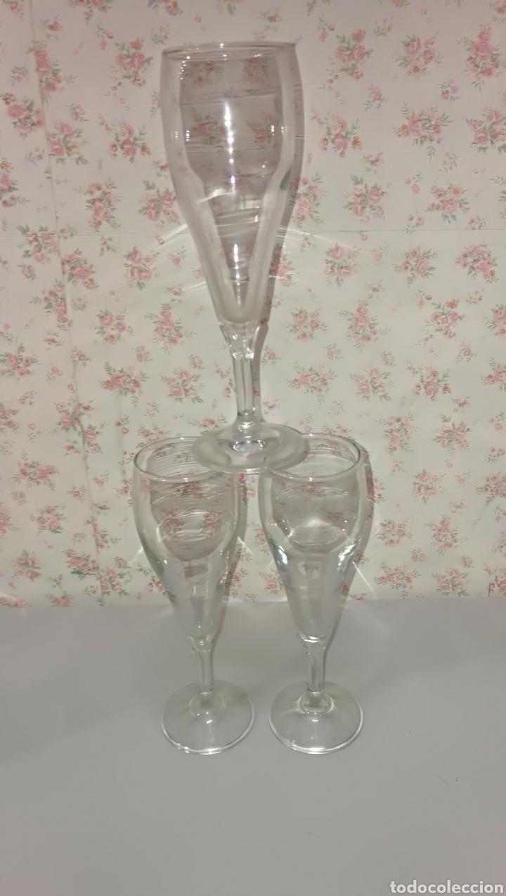 Vintage: Lote 20 pcs copas y vasos precioso color verde vintage años 70 - Foto 6 - 166748678