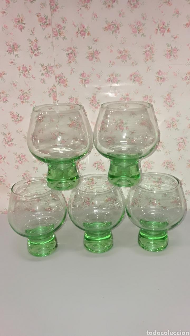 Vintage: Lote 20 pcs copas y vasos precioso color verde vintage años 70 - Foto 8 - 166748678
