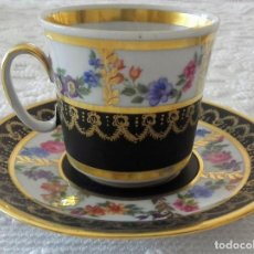 Vintage: 2 TAZAS DE CAFÉ PORCELANA VIEUX PARÍS. Lote 186033820