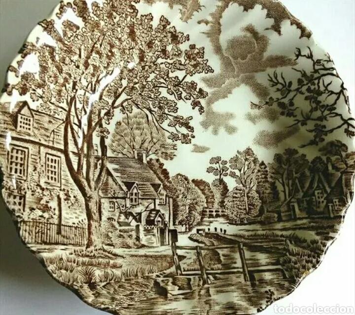 PLATO DE LOZA JOHNSON BROTHERS (Vintage - Decoración - Porcelanas y Cerámicas)