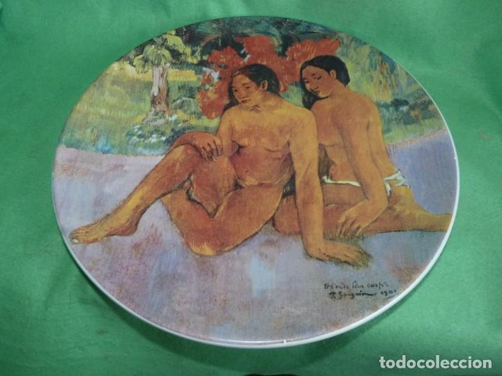 FABULOSO PLATO OBRA PAUL GAUGUIN EDICION LIMITADA FABRICADO PORCELANA ITALIANA BIZZIRRI (Vintage - Decoración - Porcelanas y Cerámicas)