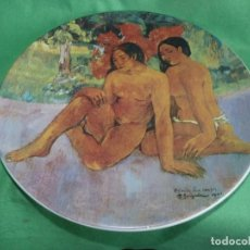 Vintage: FABULOSO PLATO OBRA PAUL GAUGUIN EDICION LIMITADA FABRICADO PORCELANA ITALIANA BIZZIRRI. Lote 167517840