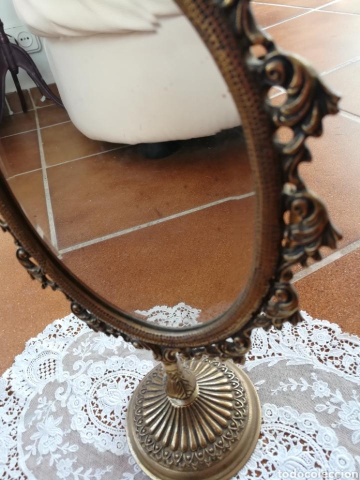 Vintage: Espejo tocador bronce - Foto 2 - 167526230