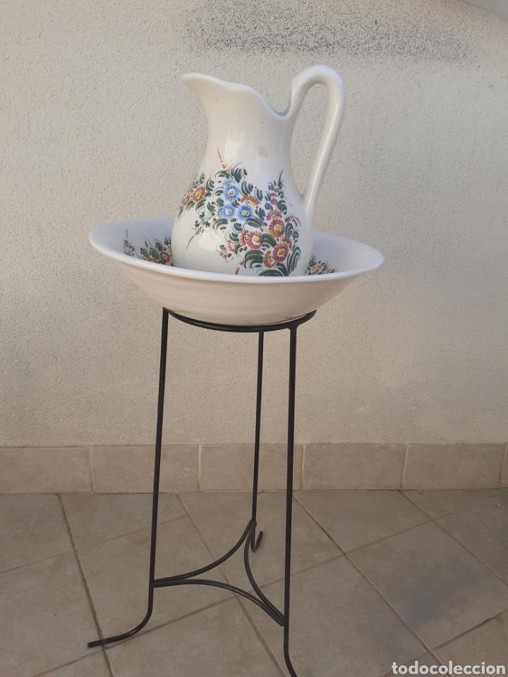 PALANGANA, JARRA, PEANA. CERAMICA. (Vintage - Decoración - Porcelanas y Cerámicas)