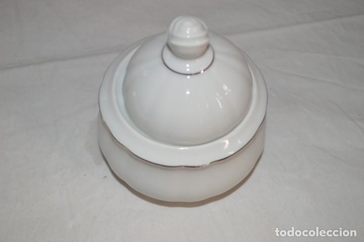 Vintage: Azucarero en porcelana fina de Bohemia. romanjuguetesymas. - Foto 3 - 167803648