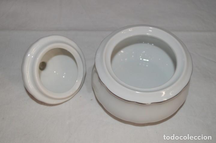 Vintage: Azucarero en porcelana fina de Bohemia. romanjuguetesymas. - Foto 4 - 167803648