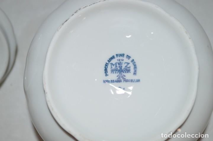 Vintage: Azucarero en porcelana fina de Bohemia. romanjuguetesymas. - Foto 6 - 167803648