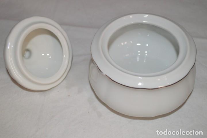 Vintage: Azucarero en porcelana fina de Bohemia. romanjuguetesymas. - Foto 7 - 167803648