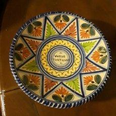 Vintage: PLATO BANDEJA DE CERAMICA PARA VOLTEAR TORTILLAS, CON FIRMA DE FABRICA. Lote 168181120
