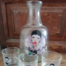 Vintage: BOTELLA ARLEQUÍN DE CRISTAL CON TRES TAPONES AÑOS 80. Lote 168437720