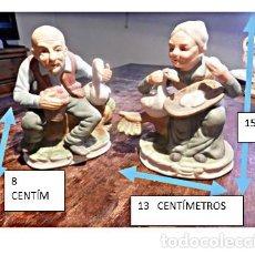 Vintage: ANCIANOS, CERAMICA ESPAÑOLA ESTILO CAPODIMONTE. POSIBLEMENTE CERAMICA SOVAL.. Lote 168666756