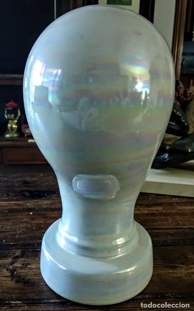 Vintage: cabeza de cerámica alemana: Escaparatismo, decoración vintage - Foto 3 - 168994976