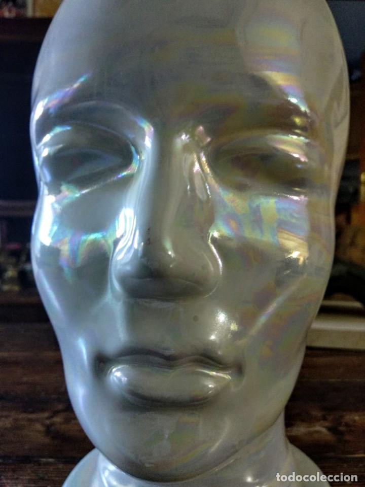 Vintage: cabeza de cerámica alemana: Escaparatismo, decoración vintage - Foto 5 - 168994976