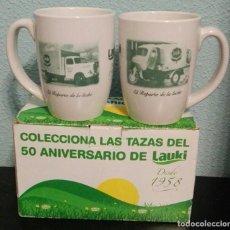 Vintage: DOS TAZAS LAUKI CAMIONES 50 ANIVERSARIO. Lote 169582064