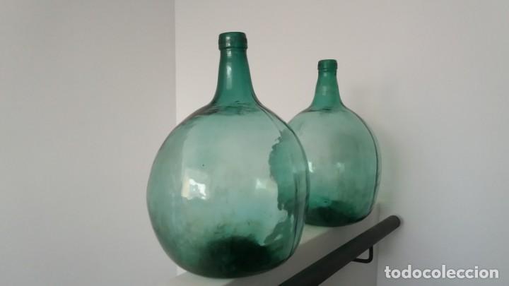 Vintage: 2 Antiguas botellas garrafa damajuana marca EL PALMAR ALGEZARES BERNAL BARCELO MURCIA de 16 litros - Foto 2 - 169718508