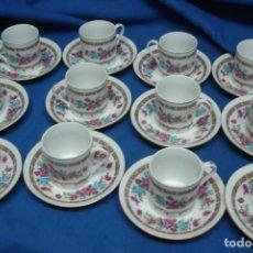 Vintage: JUEGO DE CAFÉ- 12 TAZAS Y 12 PLATOS DE CERÁMICA CHINA. Lote 171542315
