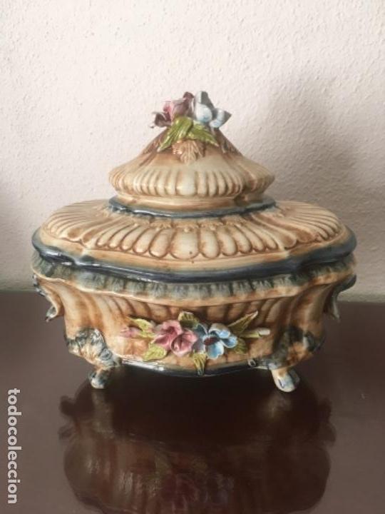 JOYERO ALFAL 25 CENTÍMETROS LARGO (Vintage - Decoración - Porcelanas y Cerámicas)