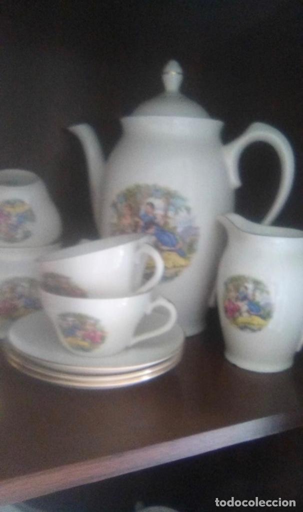 PRECIOSO JUEGO DE CAFÉ EN PORCELANA , AÑOS 50 (Vintage - Decoración - Porcelanas y Cerámicas)