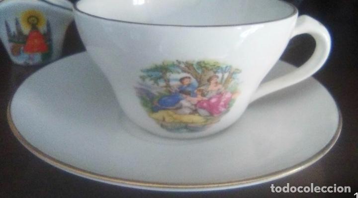 Vintage: PRECIOSO JUEGO DE CAFÉ EN PORCELANA , AÑOS 50 - Foto 3 - 172181837