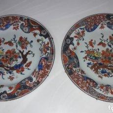 Vintage: ANTIGUOS PLATOS CERAMICA O PORCELANA CHINA PINTADOS A MANO. Lote 172315323