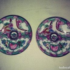 Vintage: 2 PLATOS DE PORCELANA DE MACAO.. Lote 172390473