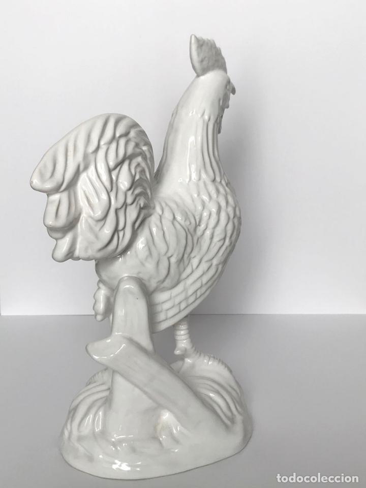 Vintage: Gallo de porcelana blanca. Gran tamaño 37 cm - Foto 3 - 173230465