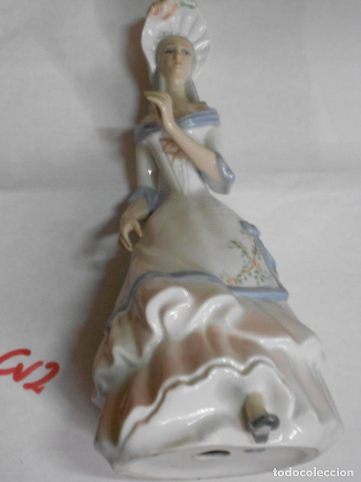 ANTIGUA FIGURA SEÑORITA DE CERAMICA CON SELLO (Vintage - Decoración - Porcelanas y Cerámicas)