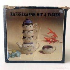 Vintage: KAFFEEKANNE MIT 4 TASSEN - JUEGO CAFÉ 4 TAZAS Y JARRA - DOGMOCH - ALEMANIA. Lote 174044472