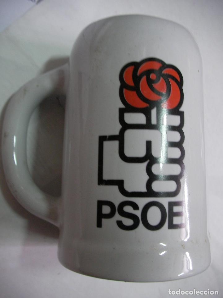 ANTIGUA JARRA DE CERAMICA DEL PSOE (Vintage - Decoración - Porcelanas y Cerámicas)
