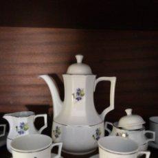 Vintage: JUEGO COMPLETO DE CAFÉ DE PORCELANA BAREUTHER. Lote 174404060