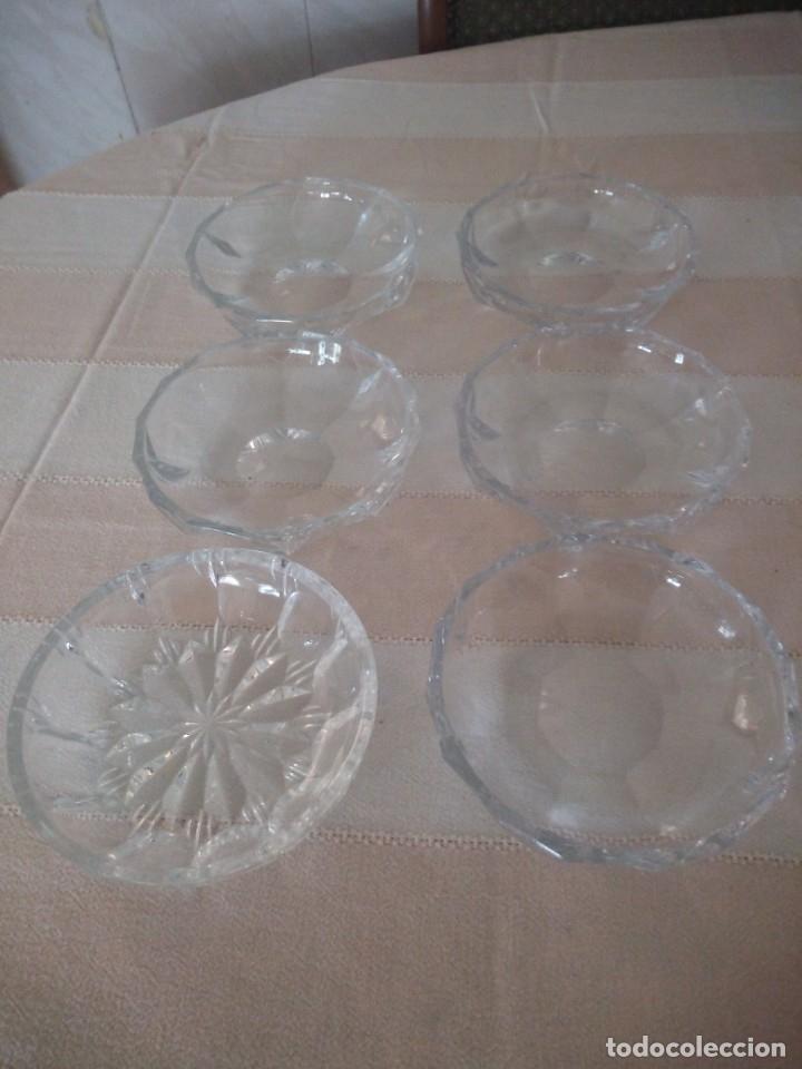 Vintage: Lote de 6 cuencos para aperitivos de cristal hay uno diferente. - Foto 2 - 174528358
