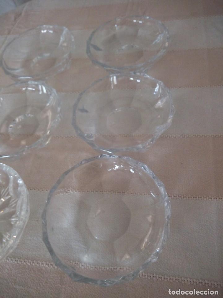 Vintage: Lote de 6 cuencos para aperitivos de cristal hay uno diferente. - Foto 3 - 174528358