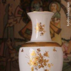 Vintage: ANTIGUO JARRON DE PORCELANA DE GALICIA DECORADO EN ORO 30,5 CM MARCADO,. Lote 174569674