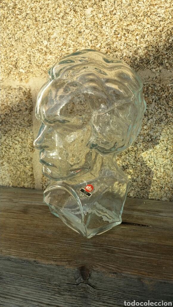 Vintage: Busto Beethoven cristal Ingrid Glass años 70' - Foto 3 - 175386785